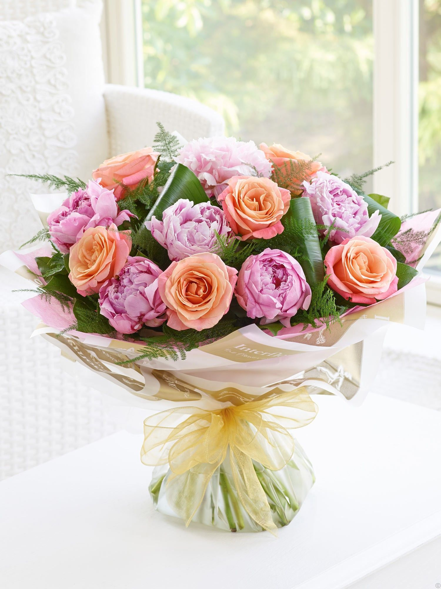 Roses and Peonies. Perfect summer flowers in this pink and