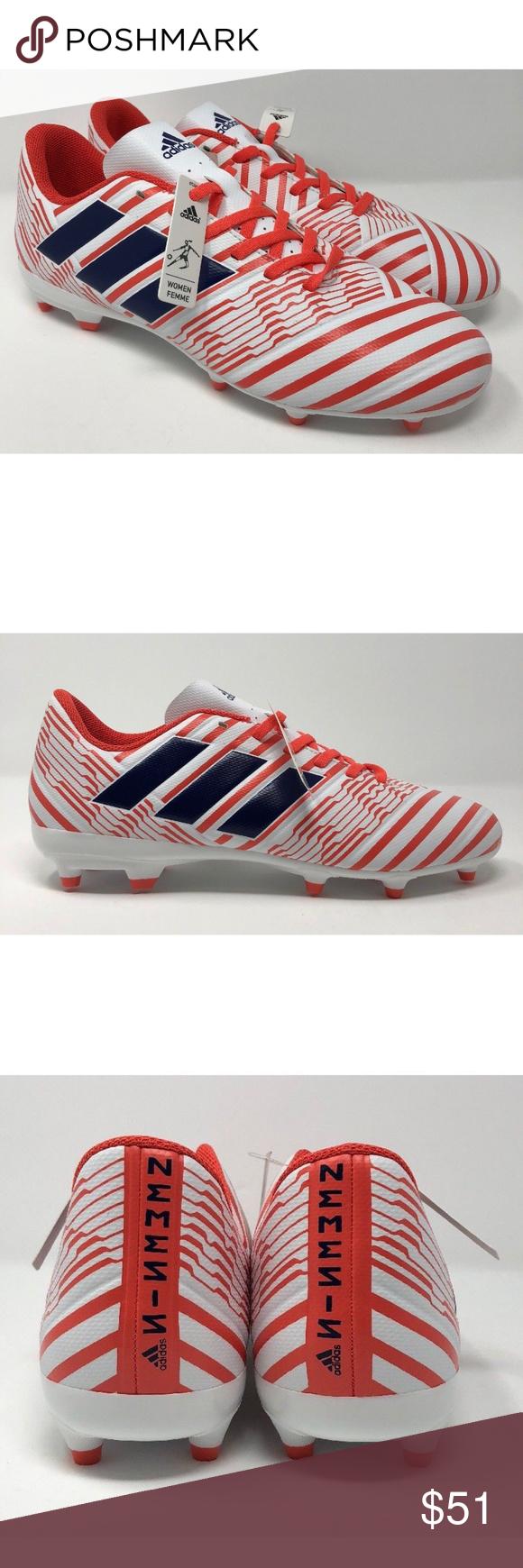 b4ba7b3df Adidas Performance Nemeziz 17.4 FG White SZ 9 Adidas Performance (BY8886) Nemeziz  17.4 FG White Soccer Cleats Women's SZ 9. adidas Shoes
