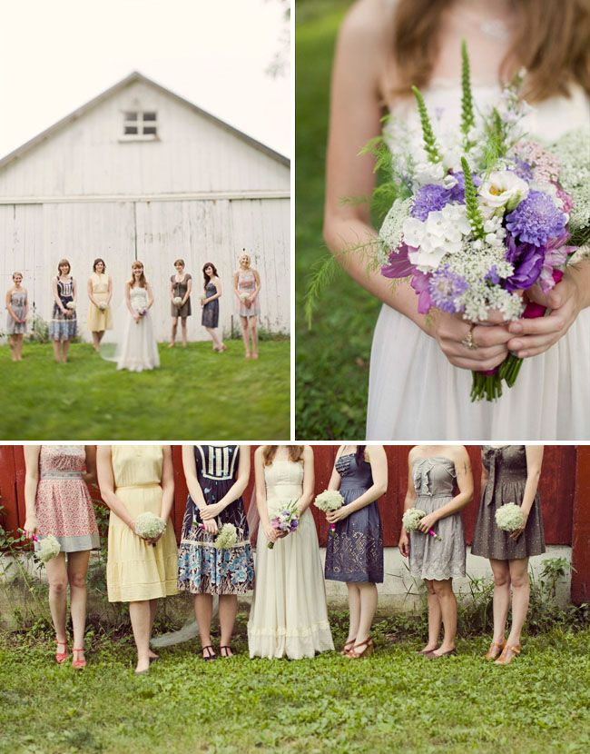 All completely different dresses, all pastel and vintage(ish)-styled