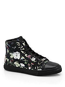 California Floral High-Top Sneakers