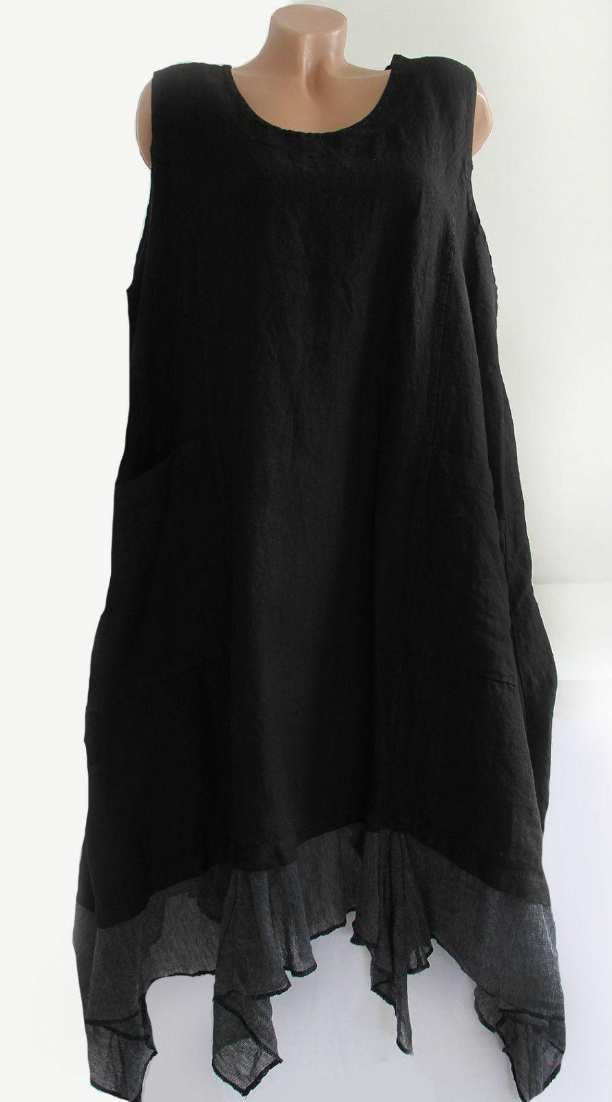 Leinenkleider schwarz
