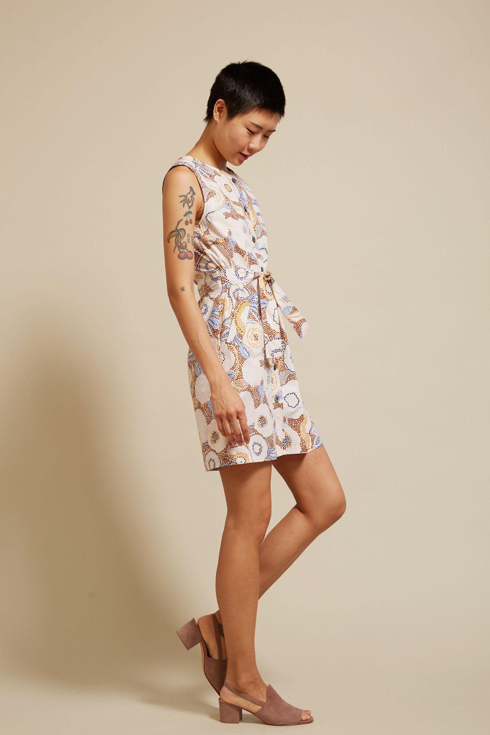 No.6 Charlotte Camp Dress in Pointillism Cotton