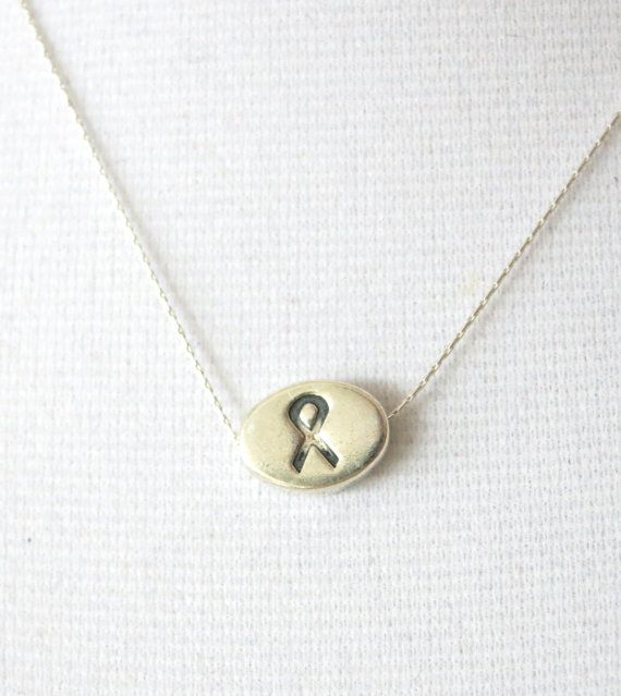 Devoted To Cancer Survivor Necklace Sterling Silver Necklace Cancer Awareness Jewelry Be Strong Gift Cancer Ribbone Necklace My Style
