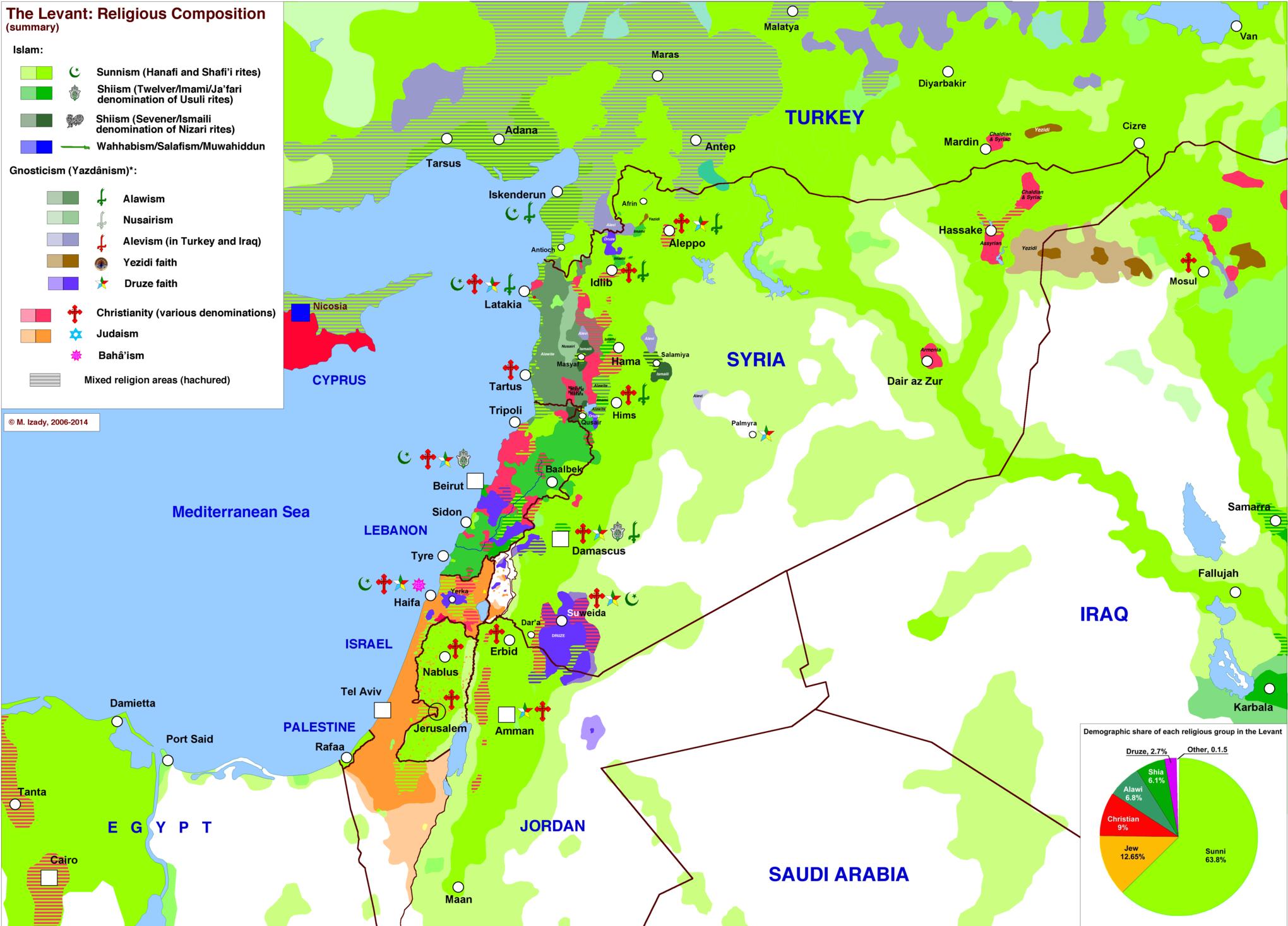Risultati immagini per ethnoreligious map of syria Mappe e carte