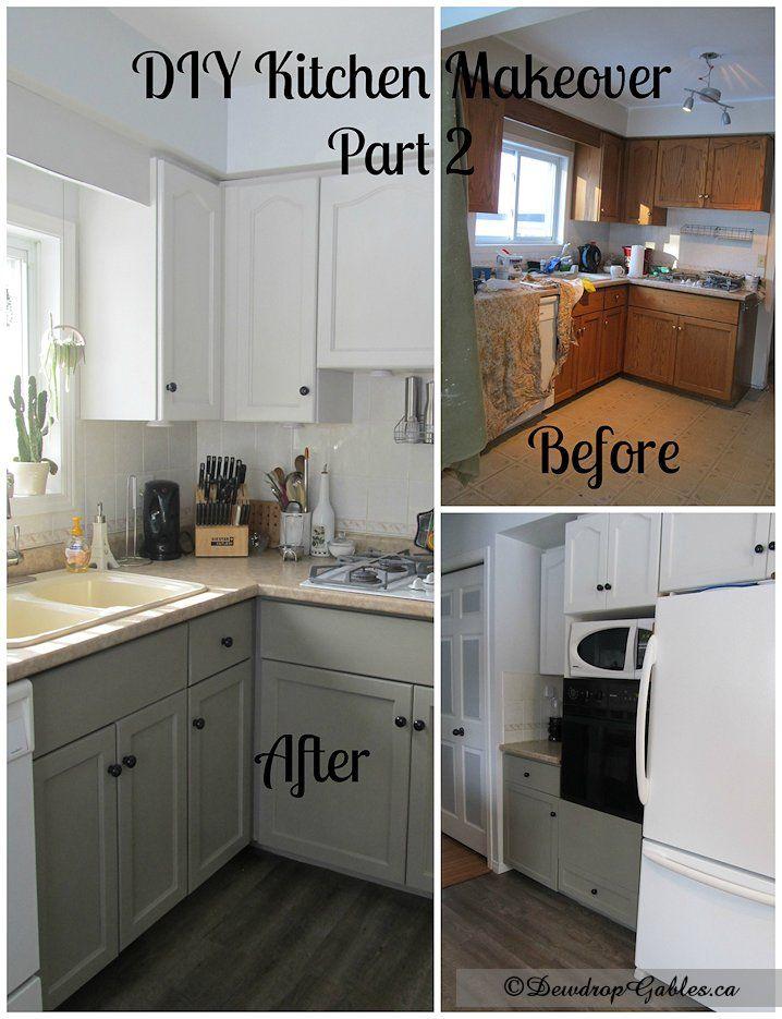 Marvelous Diy Kitchen Makeover On A Budget Part - 12: DIY Kitchen Makeover Part 2 - Dewdrop Gables