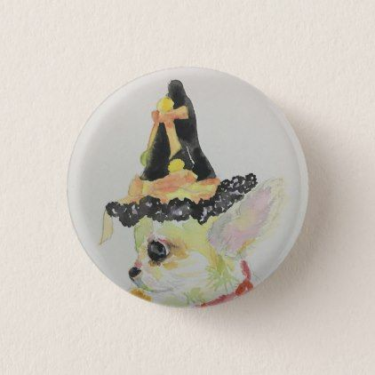 Portrait of Chloe DD Button - party gifts gift ideas diy customize ...