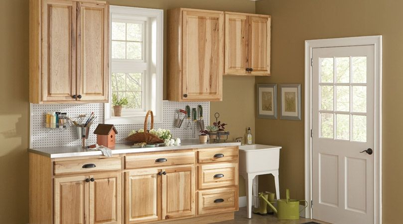American Classics Hampton Natural Hickory Cabinets Used In The Potting Room