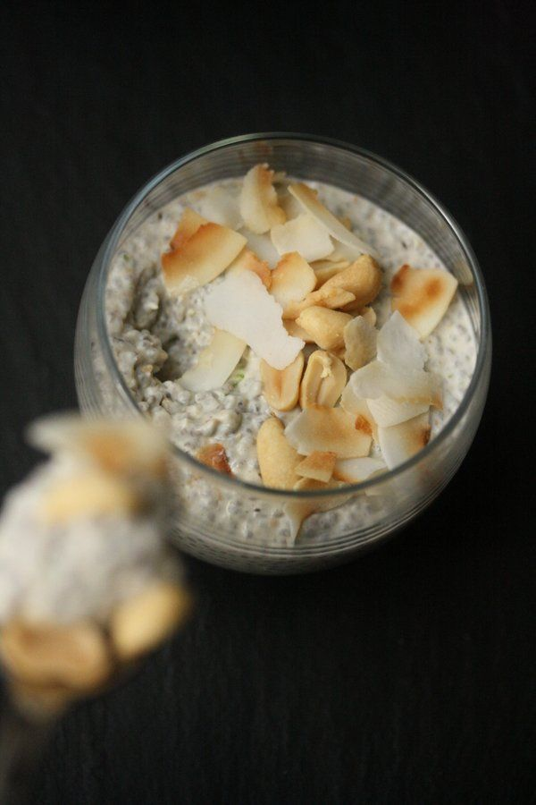 Thai Peanut Chia Seed Pudding Recipe   Easy Healthy Breakfast #chiaseedpudding