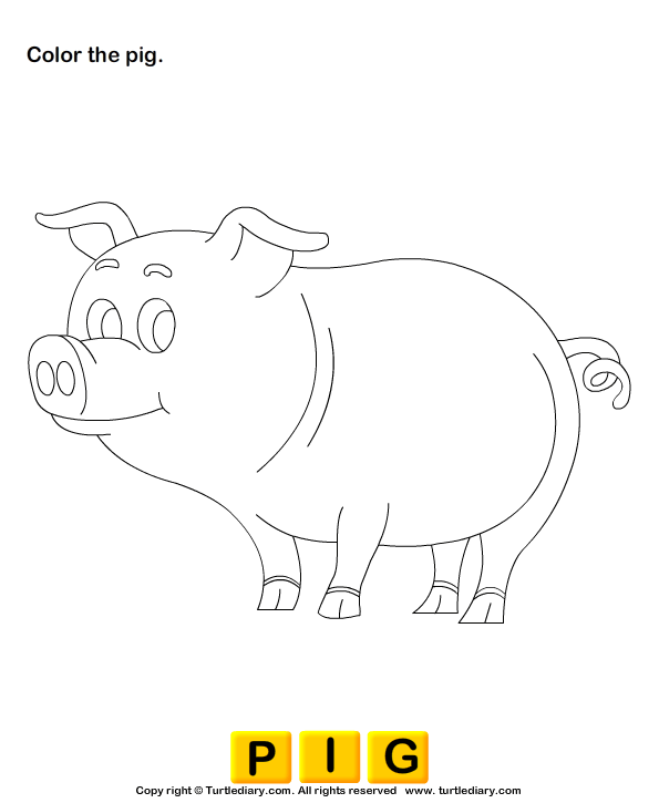 Animals Worksheets - Color The Farm Animals 1 | Turtle Diary ...