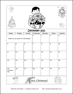 printable coloring calendar 2011 12 school year school