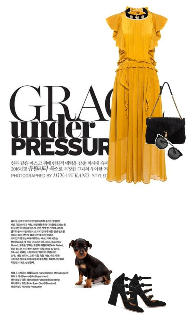 """Grace"" by natyleygam ❤ liked on Polyvore featuring Marissa Webb, Gianvito Rossi, Yves Saint Laurent, Lydell NYC and Prada"