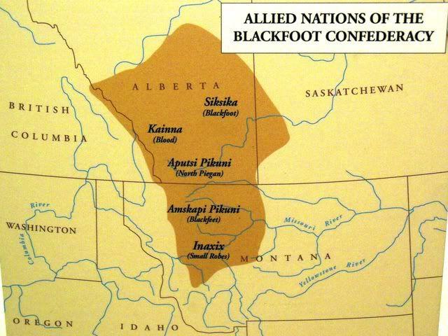 blackfoot tribe location blackfoot indians map