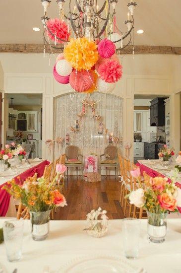 Pink Orange Baby Shower Via Babyshowerideas4u