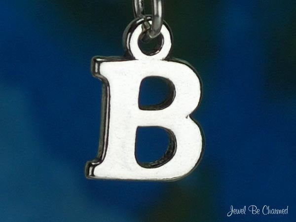 Sterling Silver Capital Letter B Charm Initial Alphabet Solid Etsy Letter B Sterling Silver Sterling