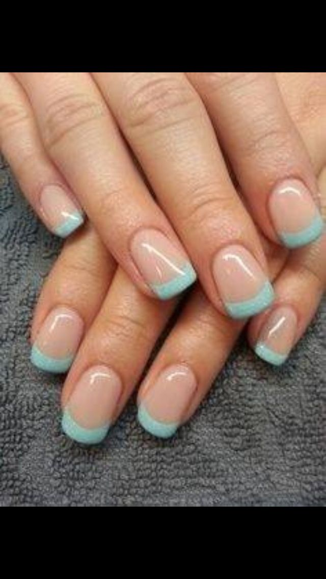 Light Brown And Baby Blue Manicure Magic Nails Trendy Nails Nails