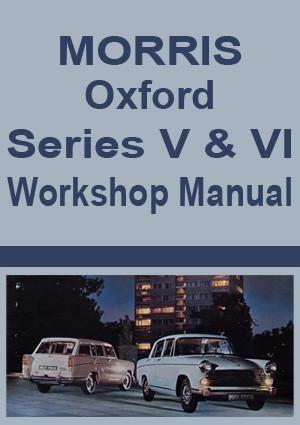 Morris Oxford Workshop Manual Series V Vi Morris Oxford