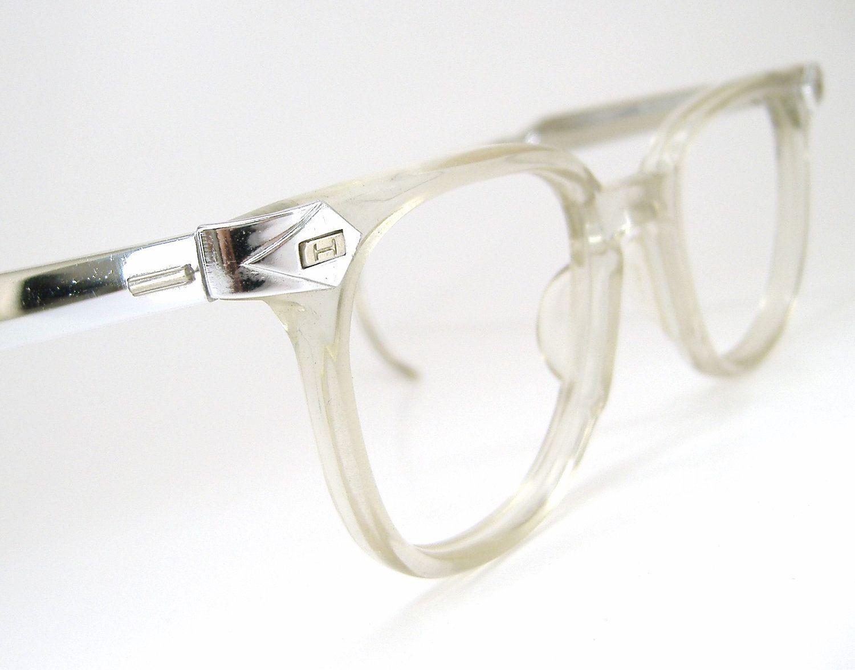 Retro 50s Vintage 50s Mens Horn Rim Glasses Eyeglasses Sunglasses Clear Frame Vintage Glasses Men Horn Rimmed Glasses Clear Rimmed Glasses