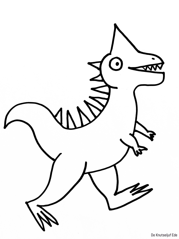 Kleurplaten Dinosaurussen Dinosaurus Knutselen Creatief Kleurplaat Kleurplaten De Knutseljuf Ede Knutselen Dinosaurus Kleurplaten Dinosaurus
