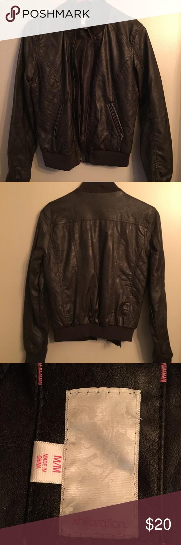 Nwot Target Xhilaration Vegan Leather Jacket Vegan Leather Jacket Leather Jacket Clothes Design [ png ]