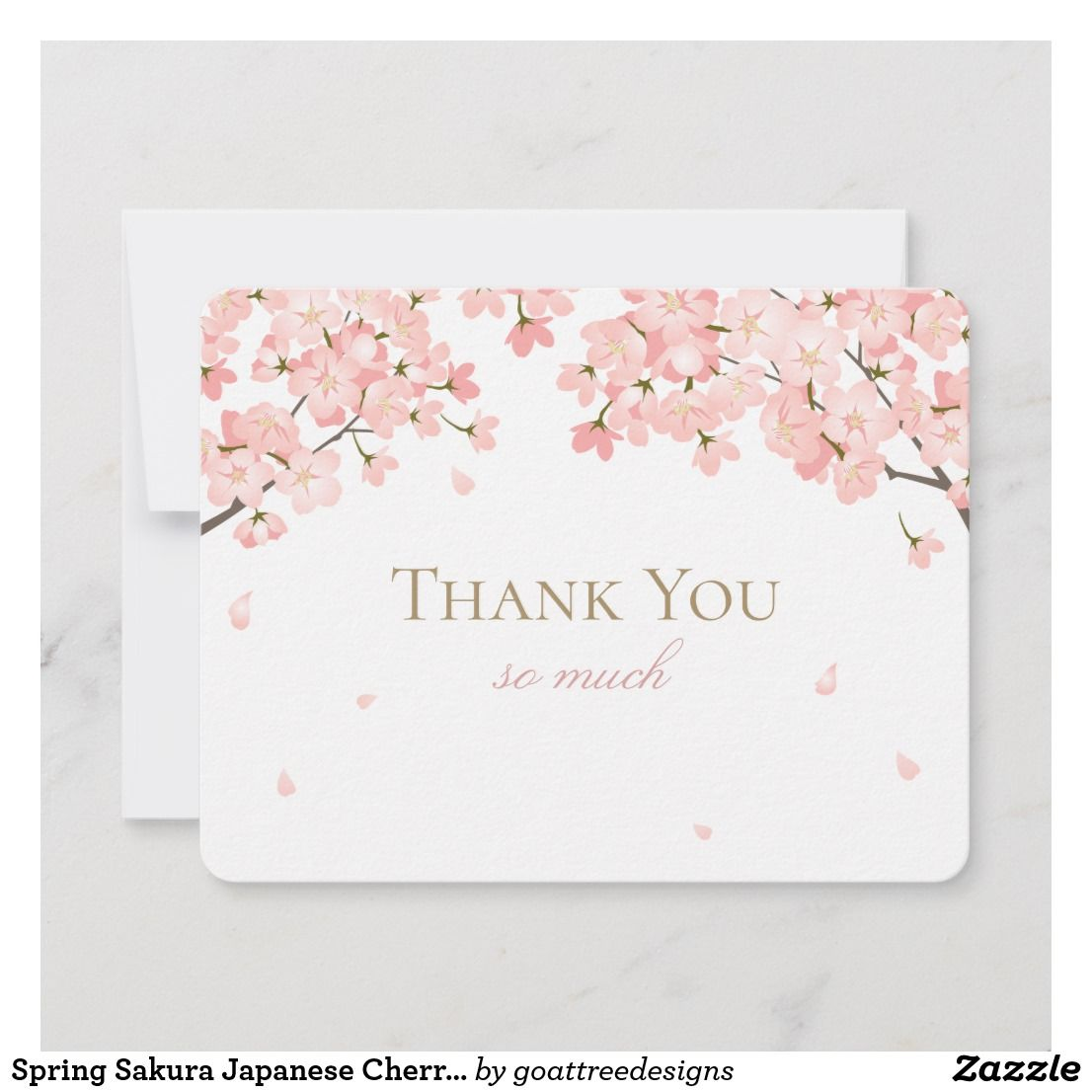 Spring Sakura Japanese Cherry Blossoms Pink Thank You Card Zazzle Com In 2021 Thank You Cards Diy Thanksgiving Cards Christmas Card Crafts