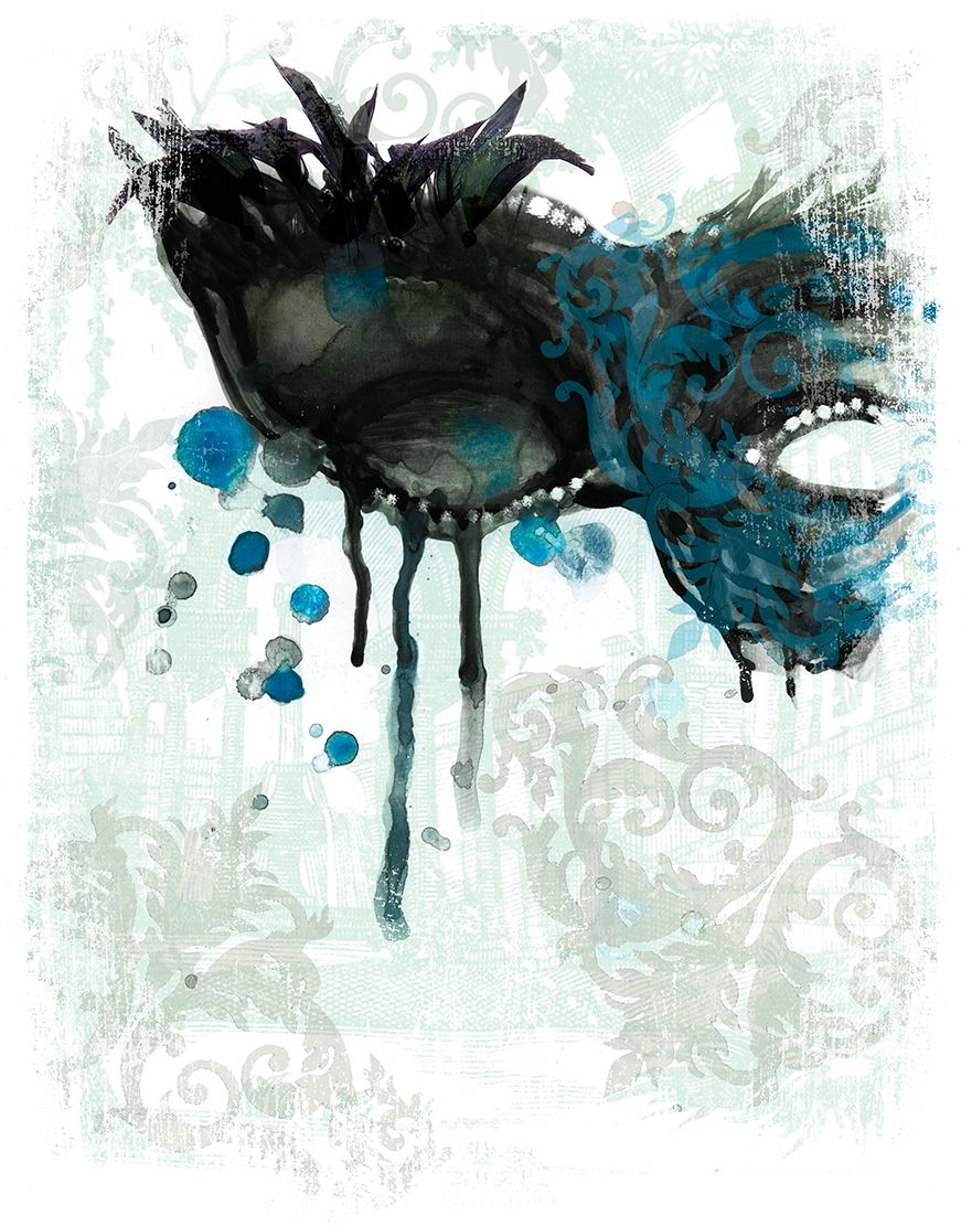 Masquerade Mask Watercolor Painting Art Mask Painting Masquerade