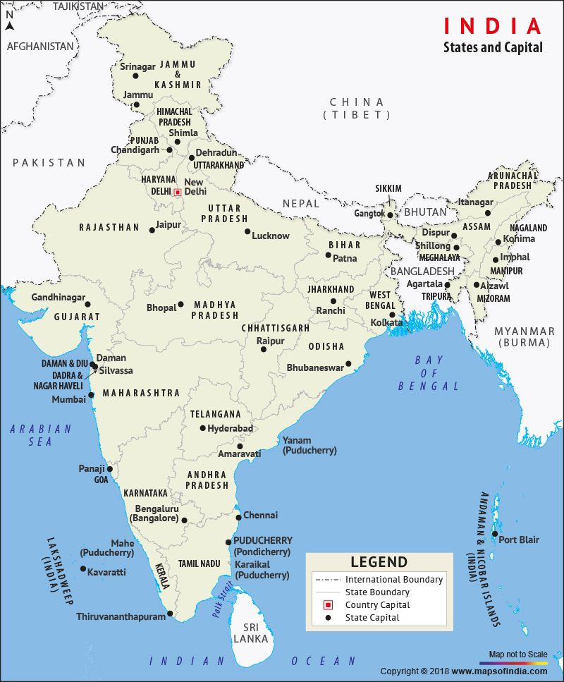 indian states and their capitals map States And Capitals Map Of India India Map States And Capitals indian states and their capitals map