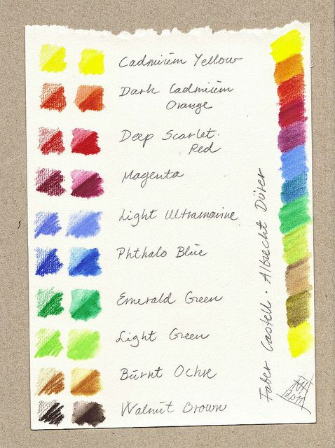 Faber Castell Albrecht Durer Colour Mixing Colored Pencil