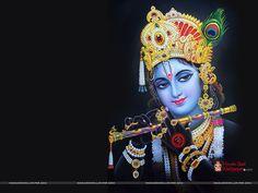 Lord Krishna Black Wallpaper For Desktop Lord Krishna Wallpapers Krishna Images Krishna Wallpaper