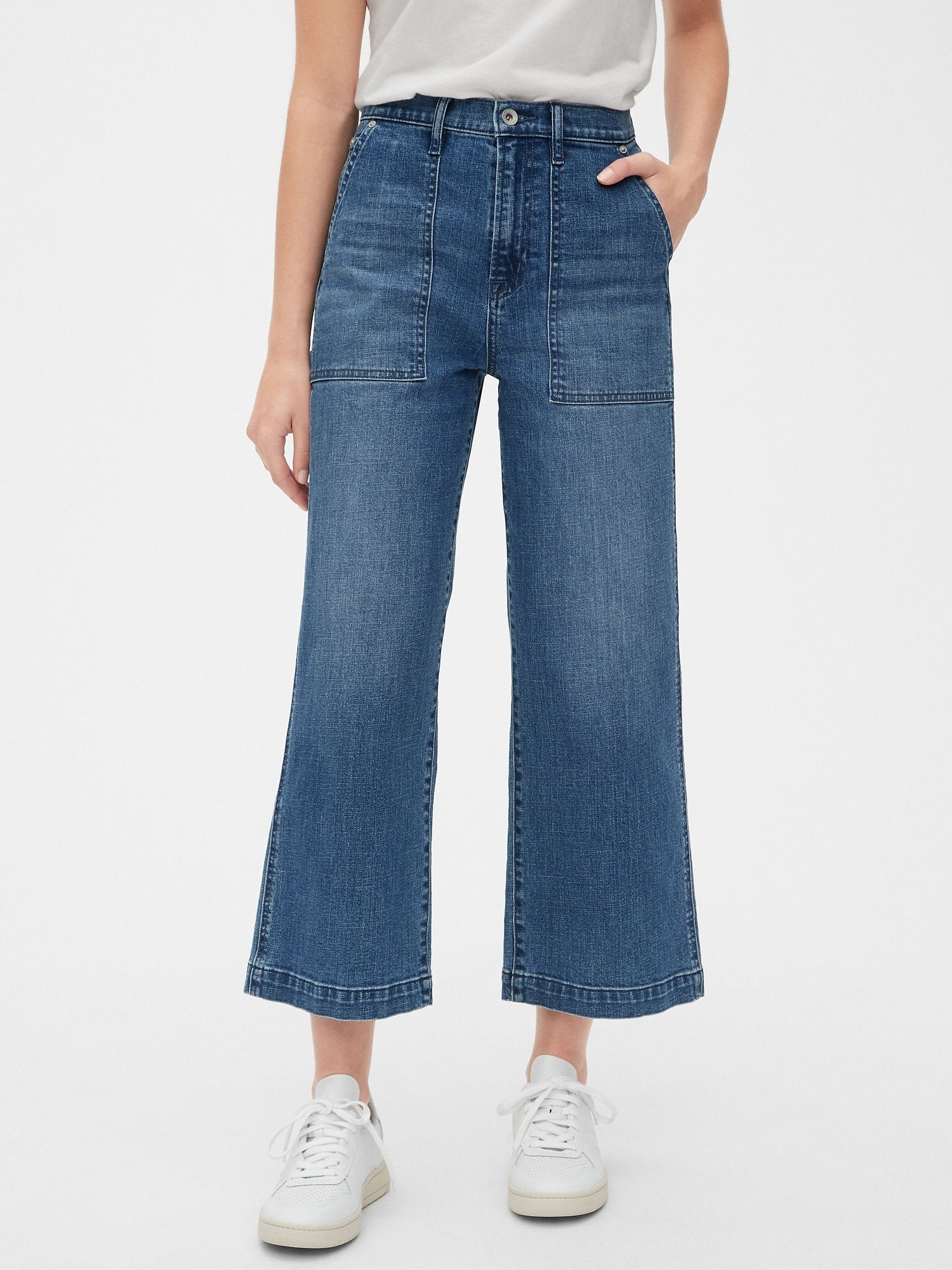 80s Worker High Rise Wide Leg Jeans