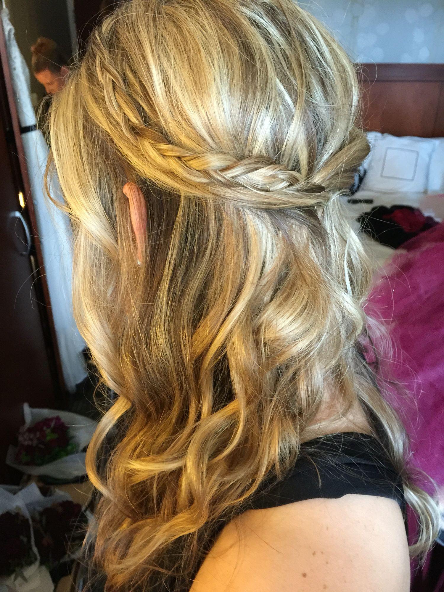 medium length half up hair braids curls soft waves for