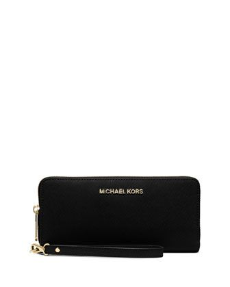 ca3fc8e8c376ee Jet Set Travel Continental Wallet, Black by MICHAEL Michael Kors at Neiman  Marcus.