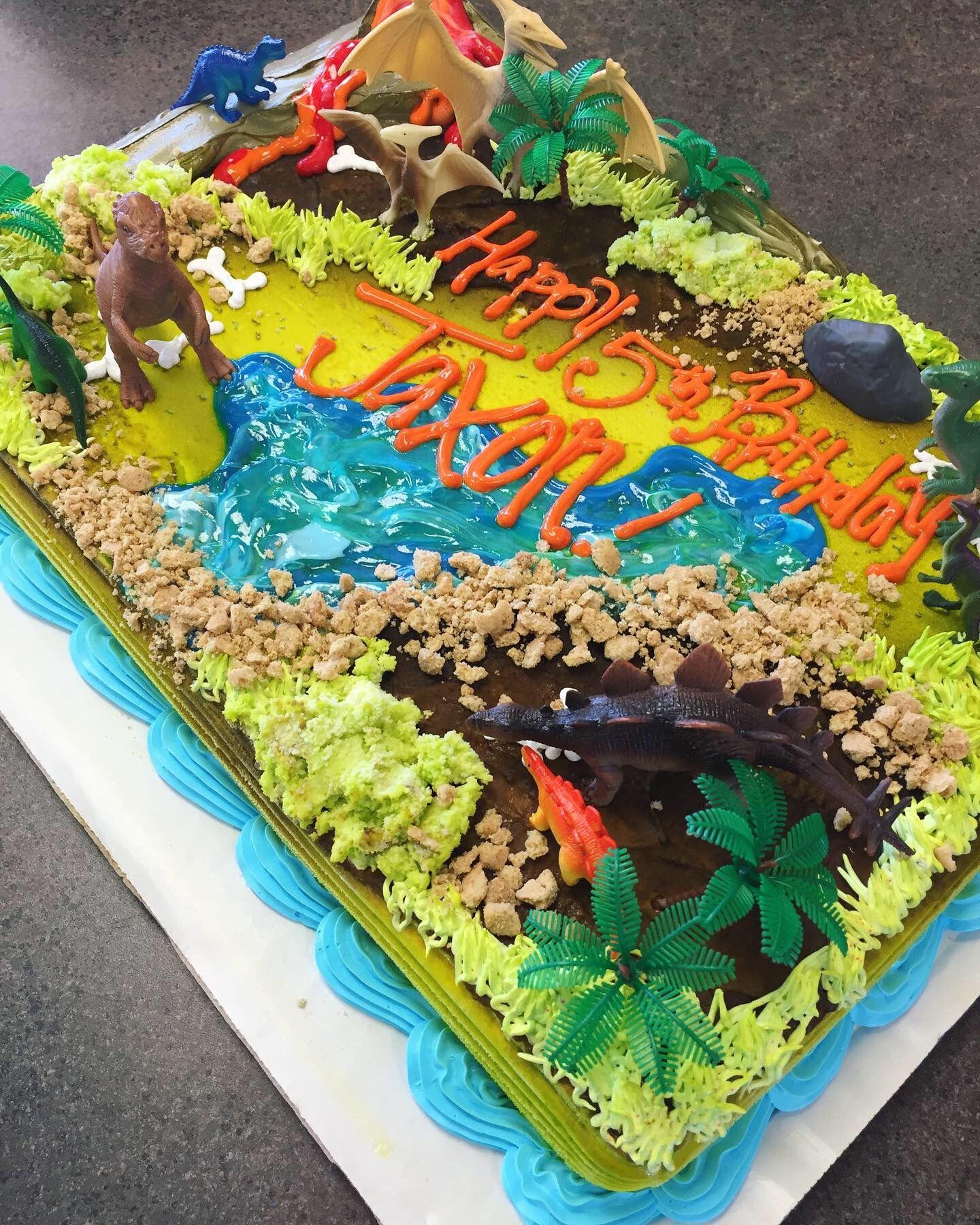Dinosaur dairy queen sheet cake by kelsey scott mason