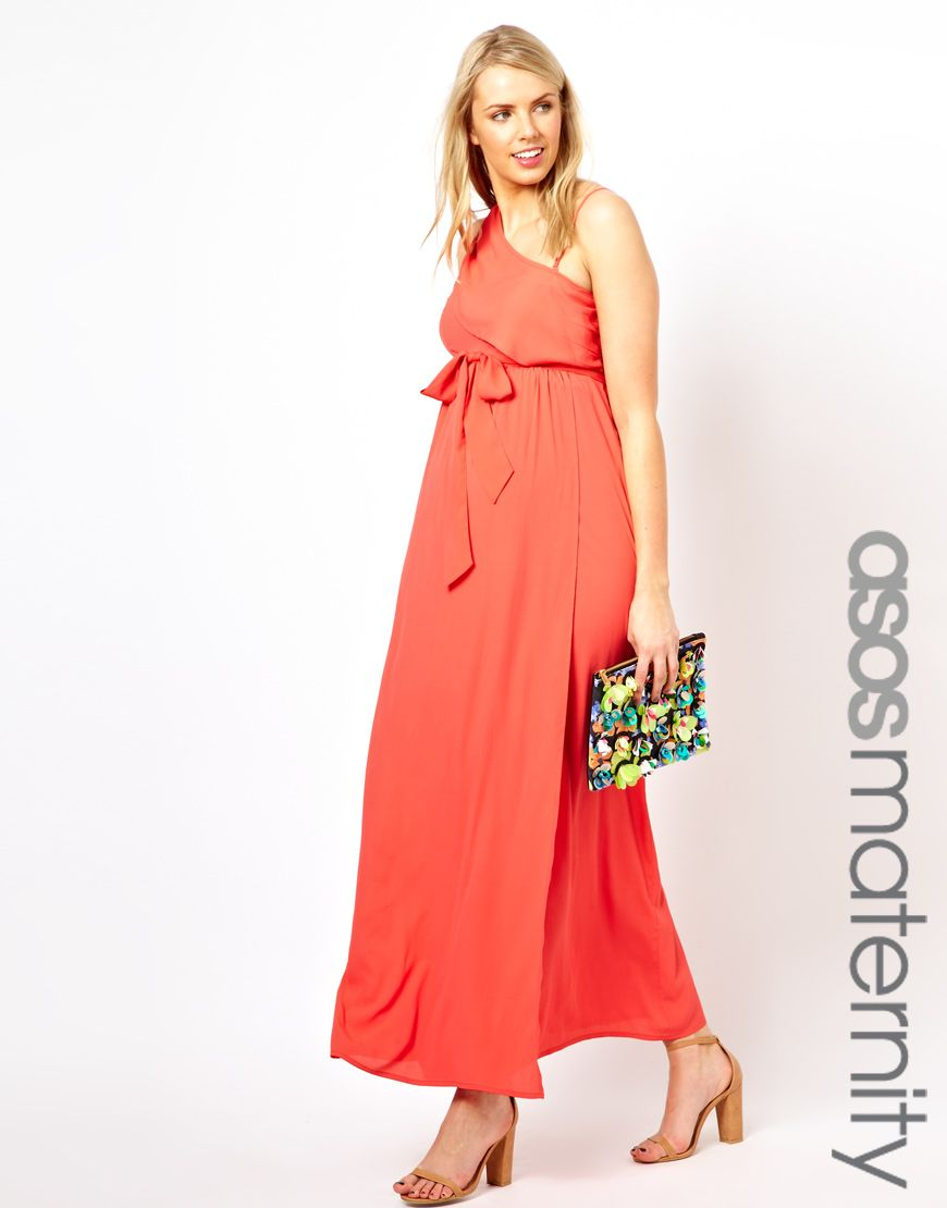 Asos maternity exclusive maxi dress with one shoulder emery lynn asos maternity exclusive maxi dress with one shoulder ombrellifo Images