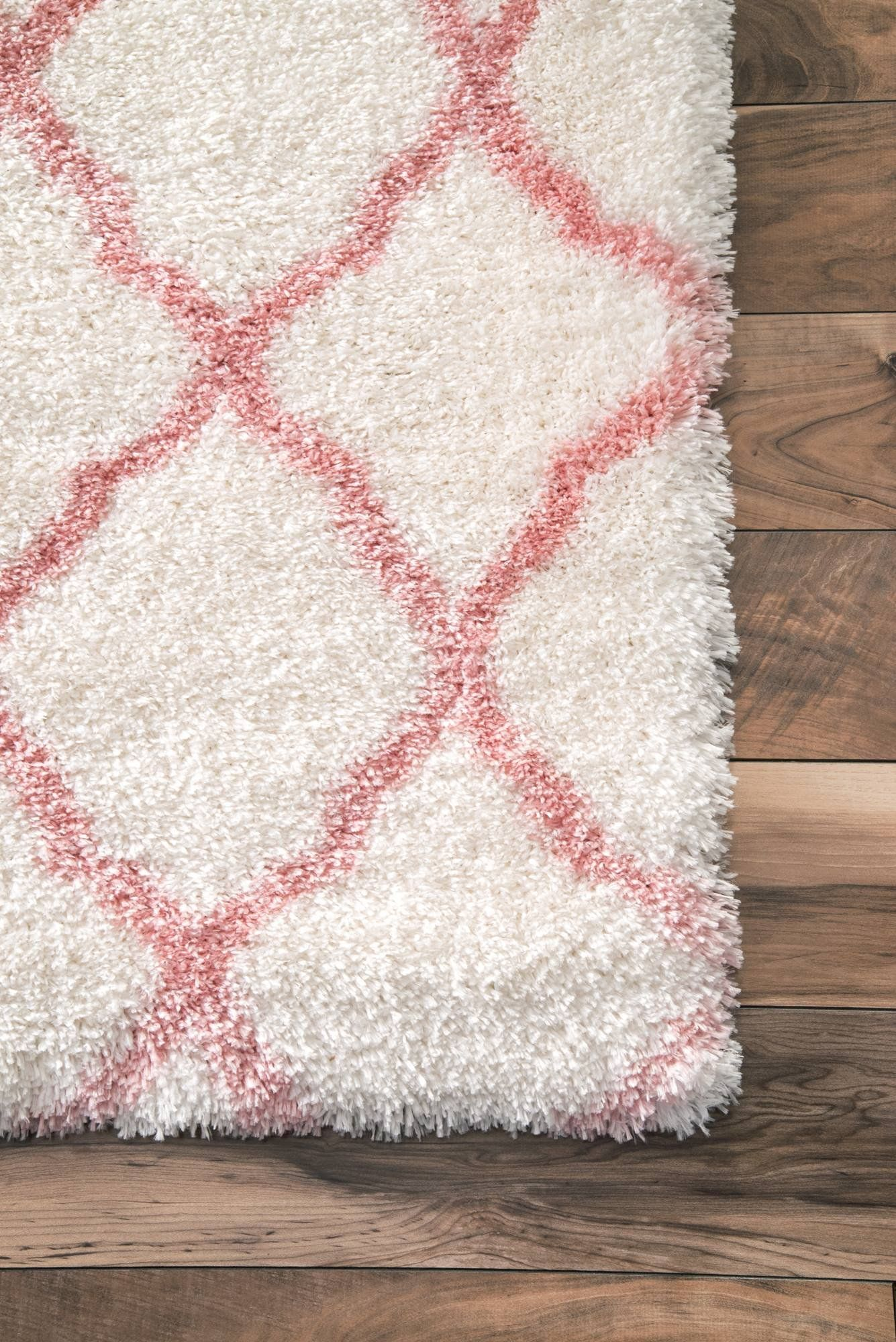 Nuloom Soft And Plush Diamond Area Rugs 8 X 10 Baby Pink Check This