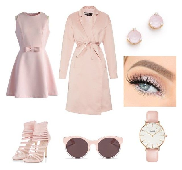 """""""Light pink love"""" by rainbowcutie1 on Polyvore featuring beauty, Chicwish, Rochas, Kate Spade, CLUSE and Christian Dior"""