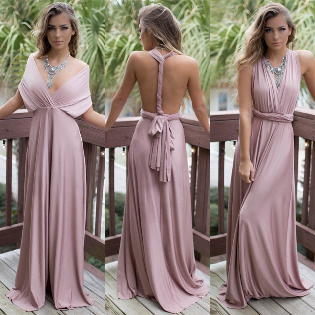 bedd041ad694be Formal Wedding Bridesmaid Long Evening Party Ball Prom Gown Cocktail Maxi  Dress