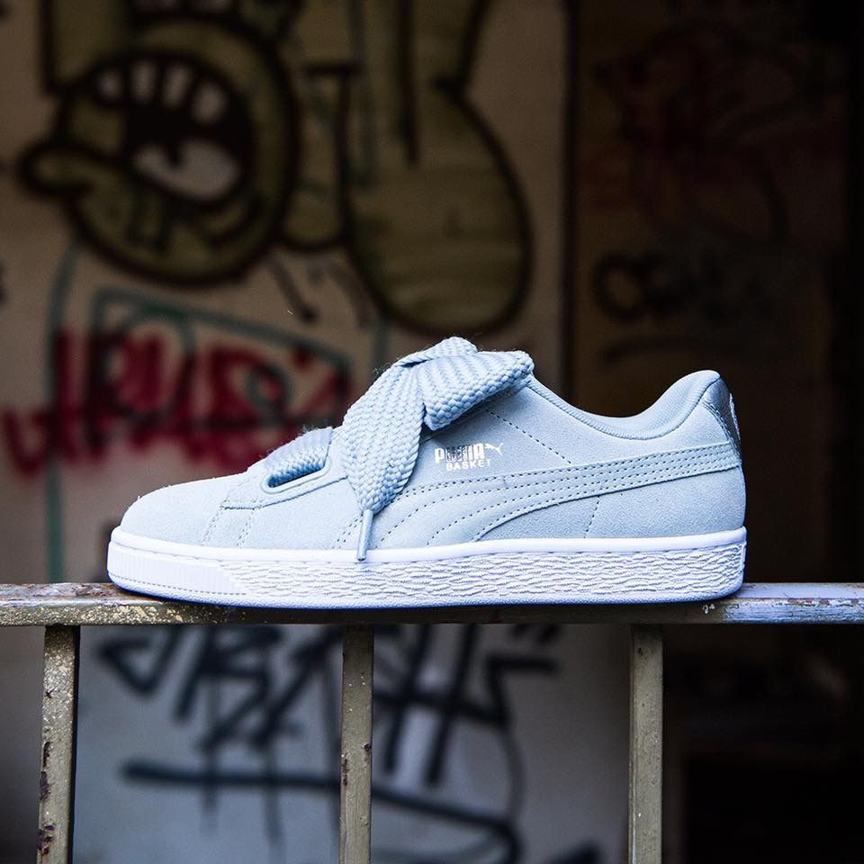 Puma Basket Heart  Baby Blue  28f888814