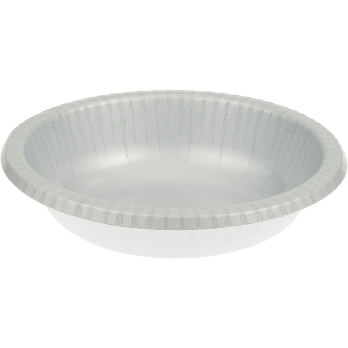 Shimmering Silver Paper Bowl Napkins Com Sachen Teller