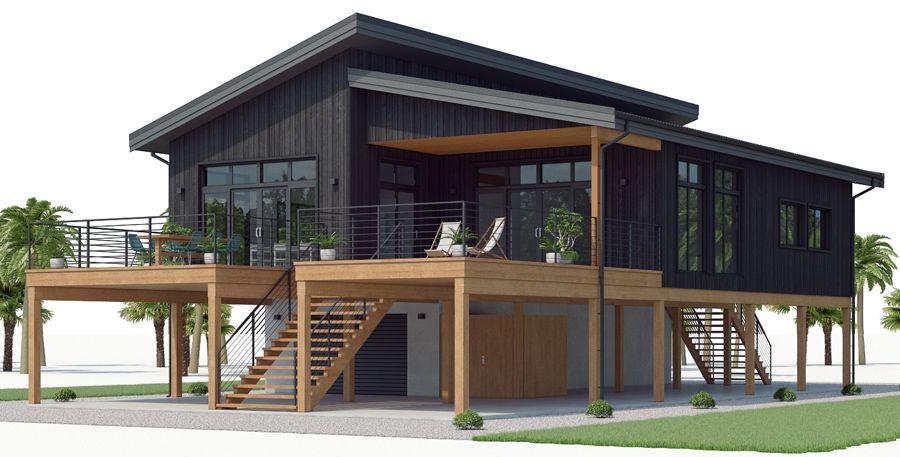 Coastal House Plans 03 House Plan 539ch 2 Jpg Stilt House Plans House On Stilts Carriage House Plans