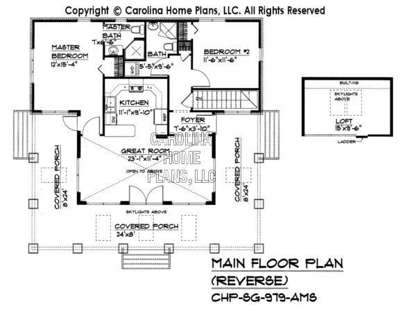 Small Stone Craftsman Bungalow House Plan CHP-SG-979-AMS Sq Ft ...