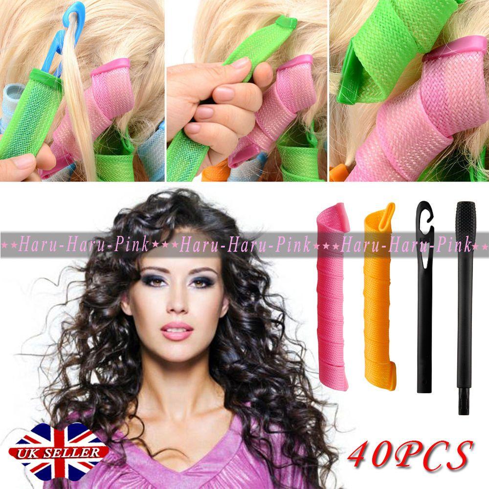 Uk 40pcs Large Salon Hair Curlers Leverag Curlformers Magic Hair Styling Rollers Hair Curlers Magic Hair Hair