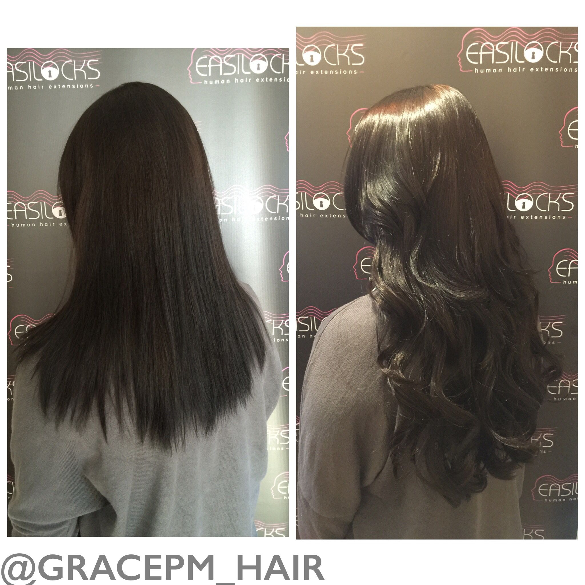 120 Strands Of Easilocks Hair Extensions In Darkest Brown