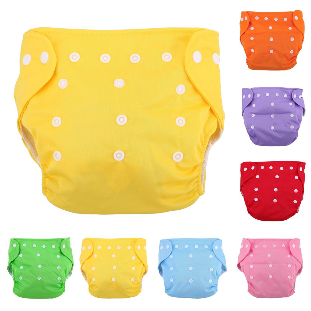 Kids Infant Reusable Washable Baby Kids Diapers Nappy Cover Adjustable Funny