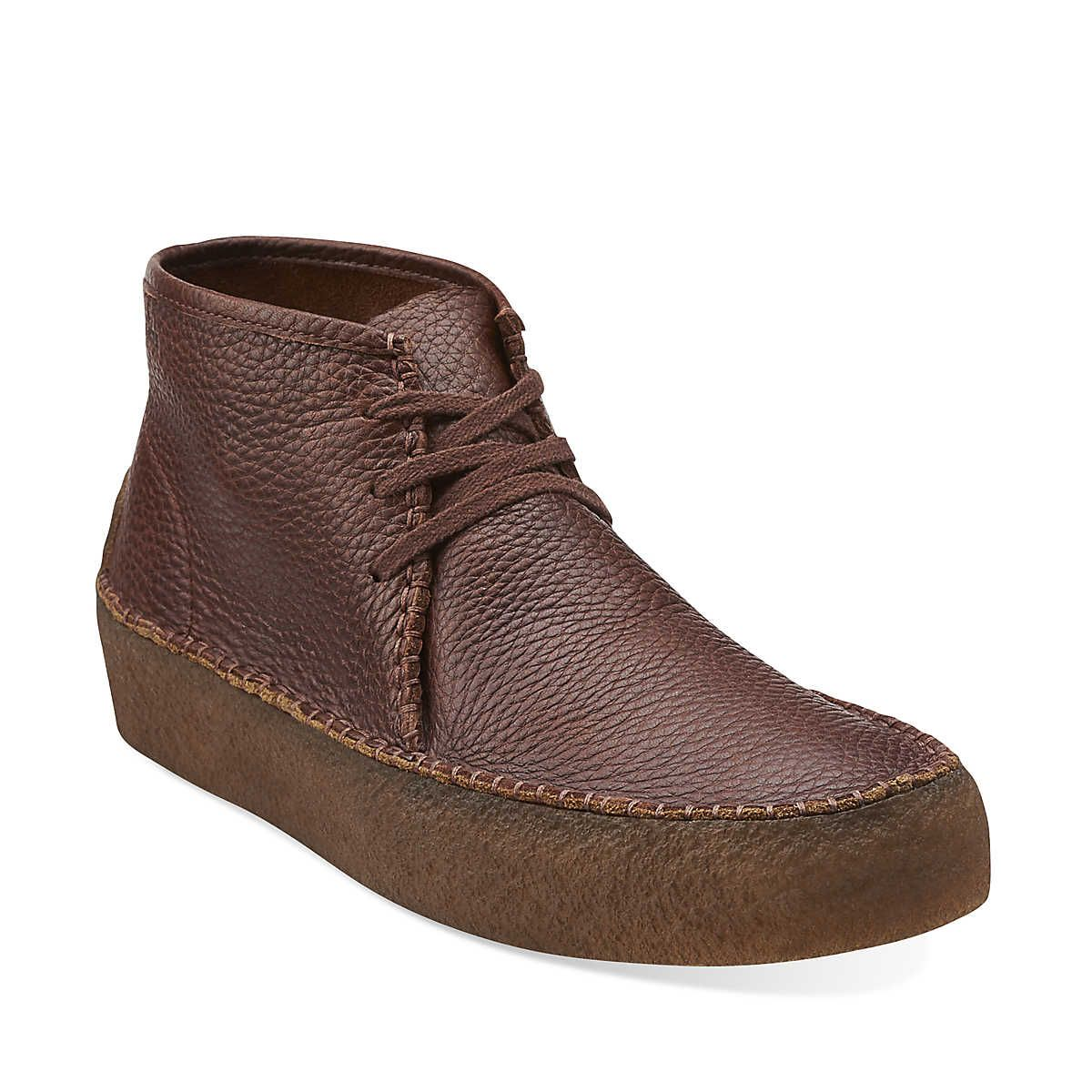 Wallabee Ridge In Brown Tumbled Leather Mens Boots From