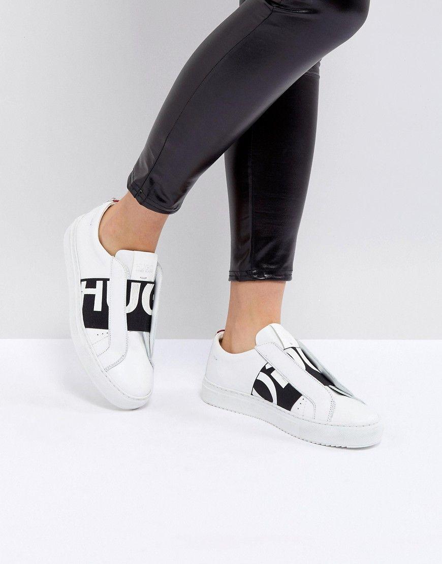 Damen Sneaker HUGO Sneaker mit Logo Weiß #Damensneaker
