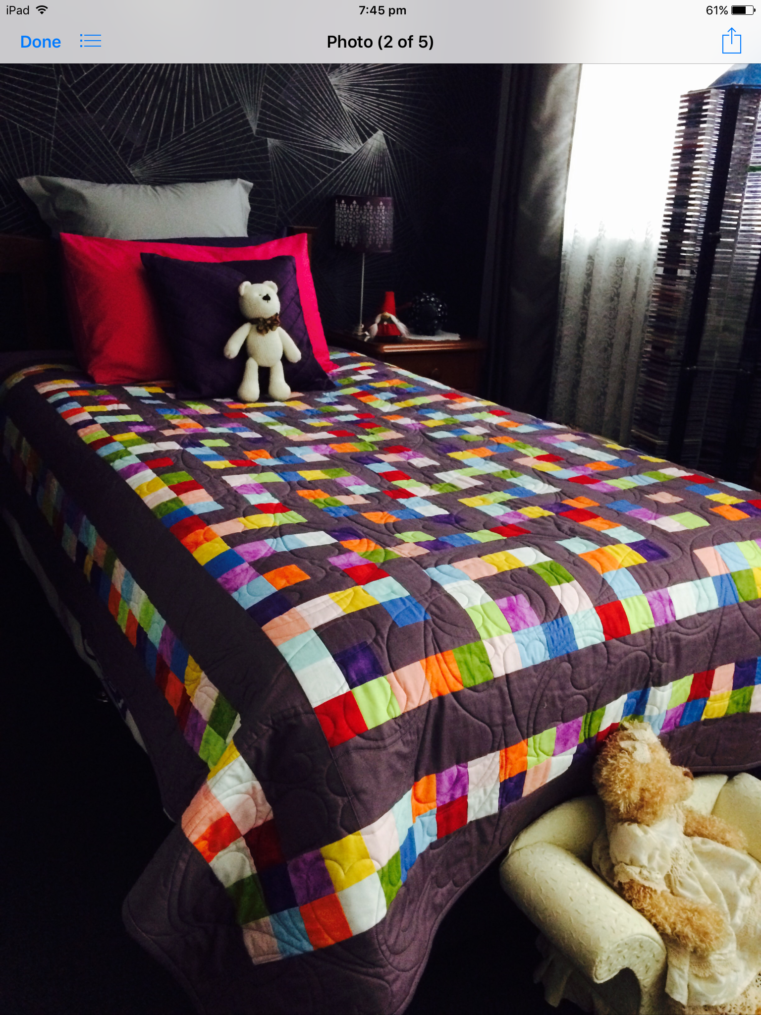 Quilt and teddy patchwork Pinterest Como hacer bordados