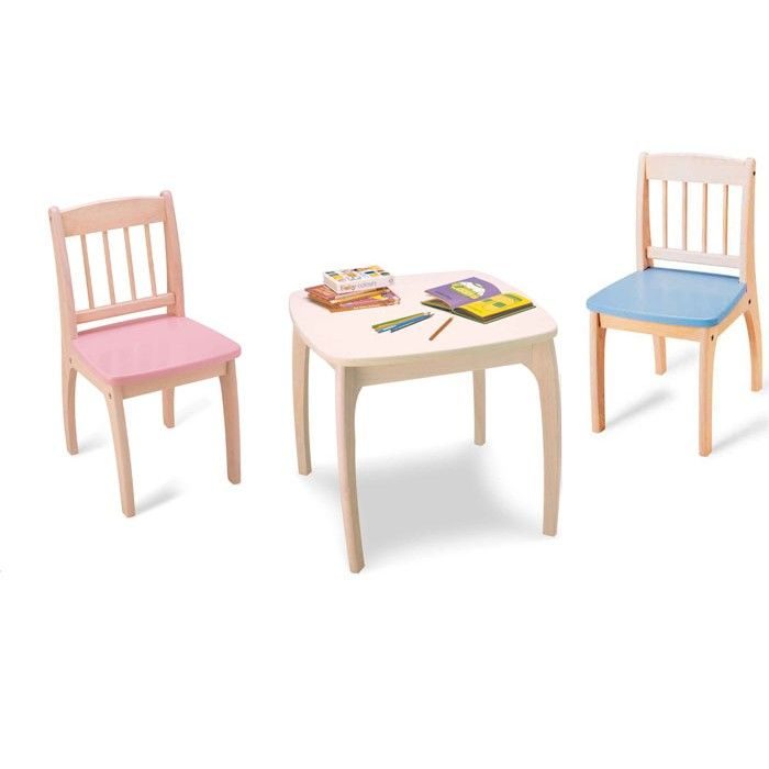 Pintoy Junior Childrens Table & Chair Set - Pink & Blue - 124 ...
