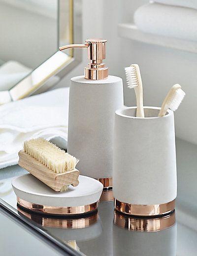 Concrete Soap Dispenser Bathroom 卫生间设计 Gold