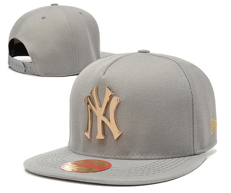b784078f88229 Men s New York Yankees New Era 9Fifty Gold Metal NY Logo A-Frame Baseball  Snapback Hat - Grey