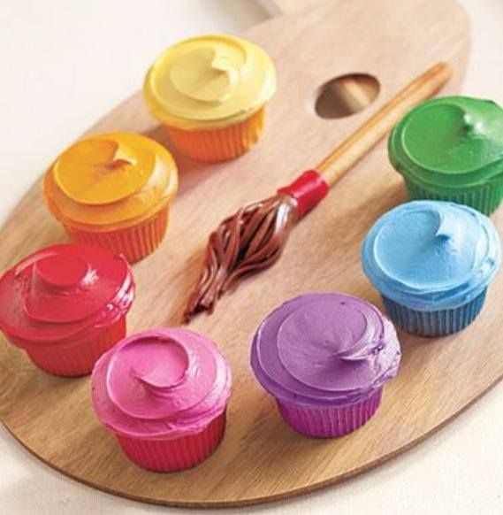 I love this idea for cupcakes